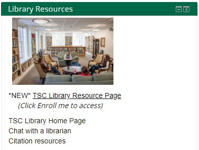 Library Resources Page